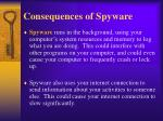 consequences of spyware