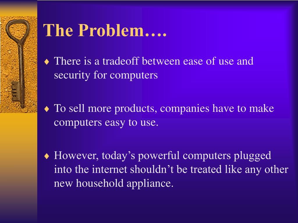 The Problem….