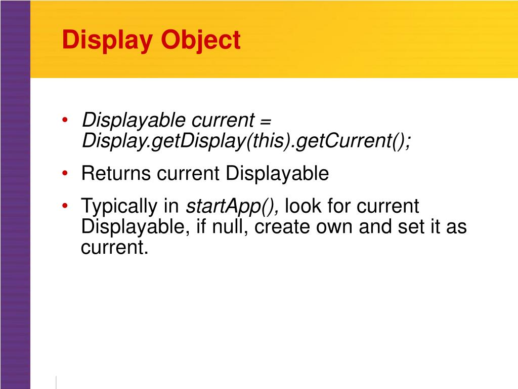 Display Object