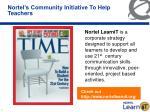 nortel s community initiative to help teachers