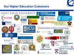 our higher education customers