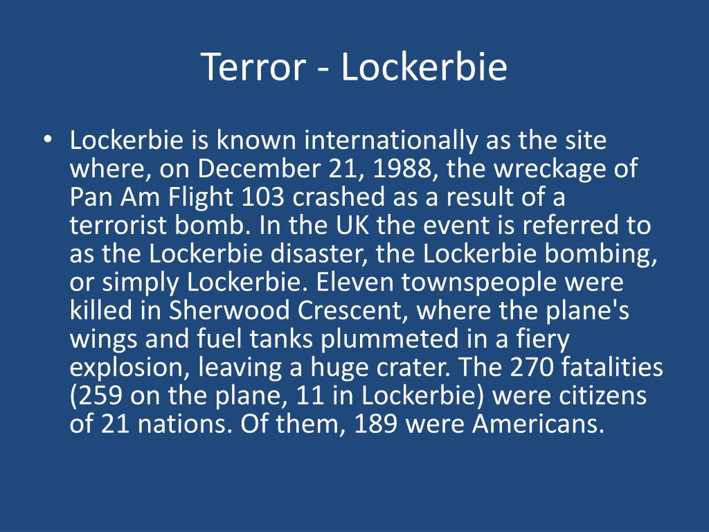 Terror - Lockerbie