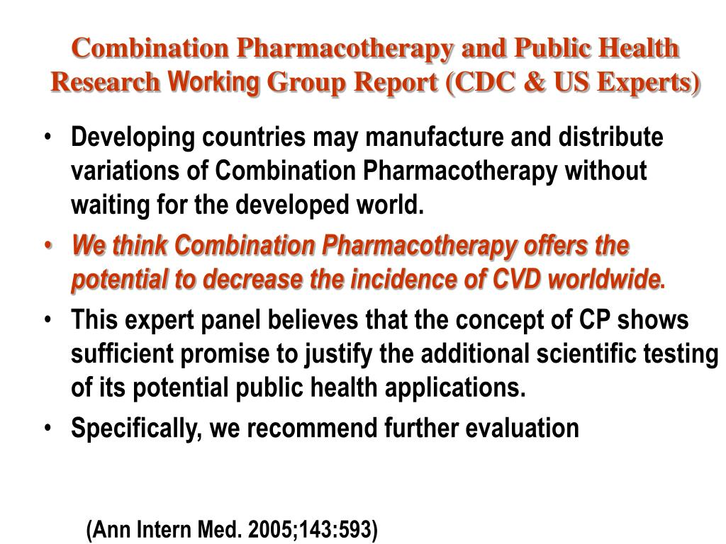 Combination Pharmacotherapy and Public Health Research