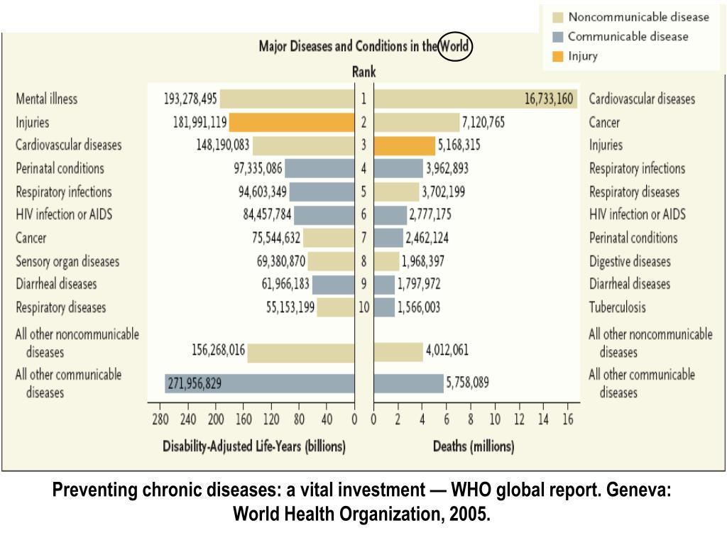 Preventing chronic diseases: a vital investment — WHO global report. Geneva: