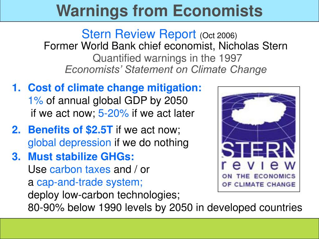 Warnings from Economists