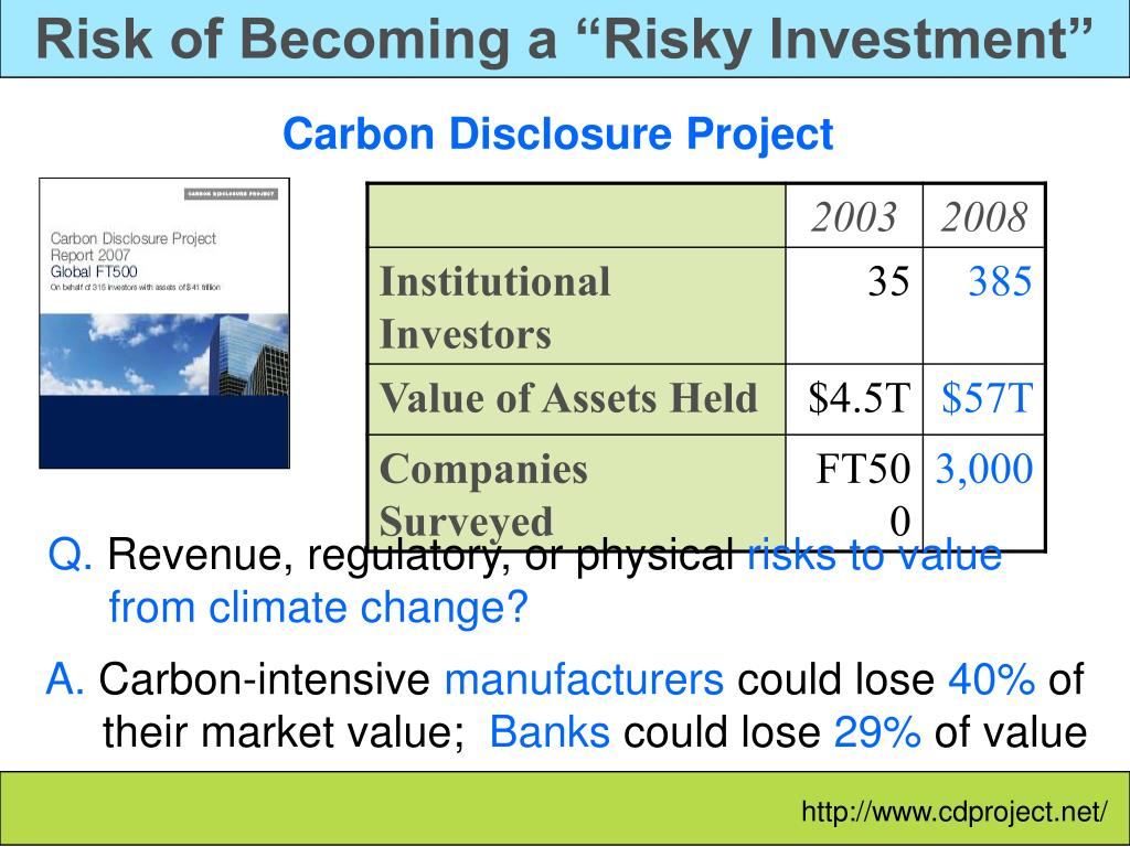 """Risk of Becoming a """"Risky Investment"""""""