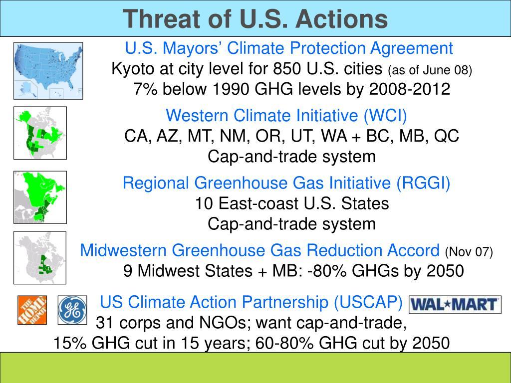Threat of U.S. Actions
