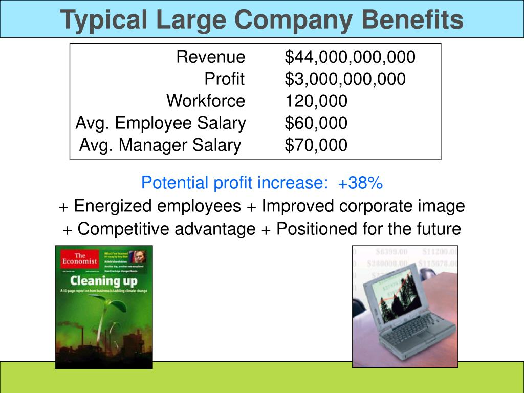 Typical Large Company Benefits