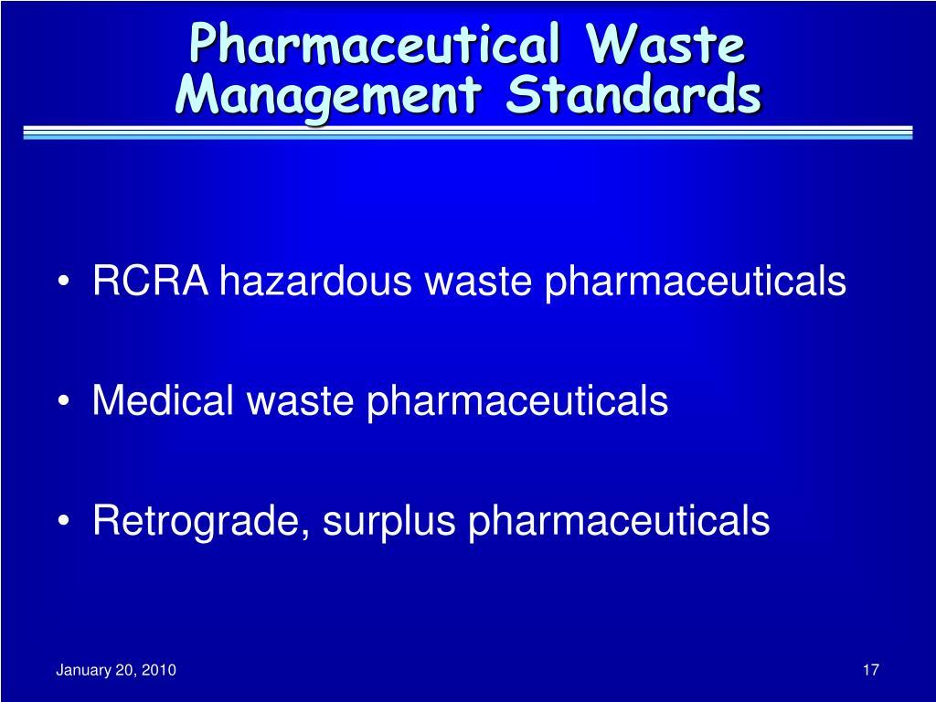 Pharmaceutical Waste