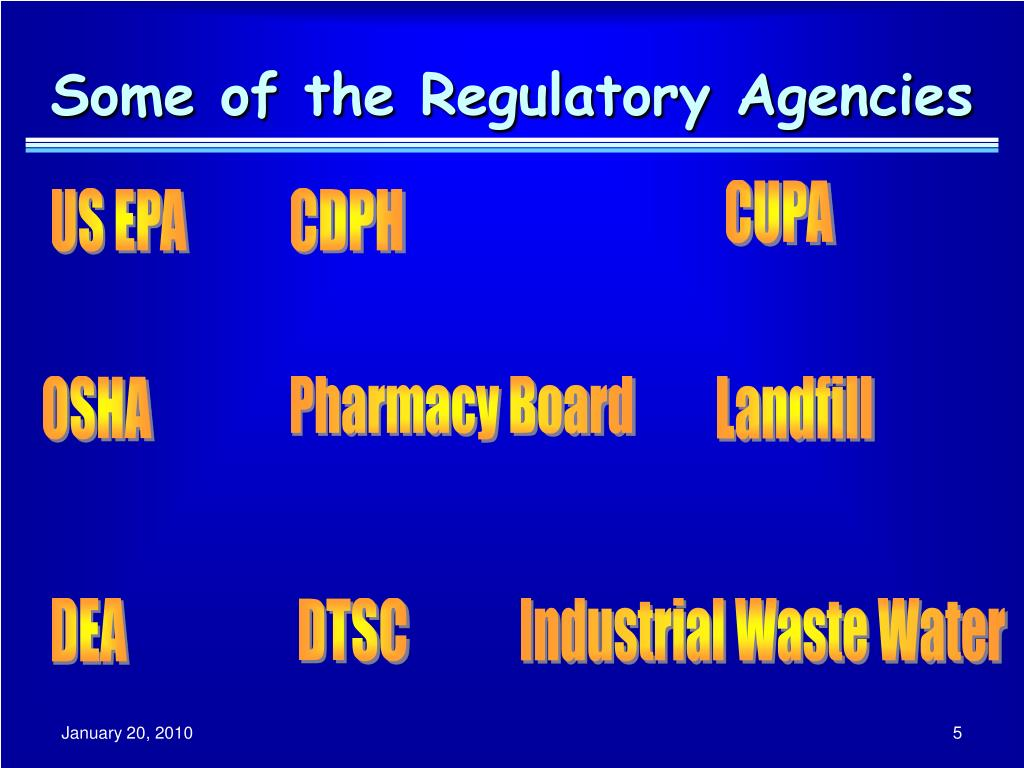 Some of the Regulatory Agencies