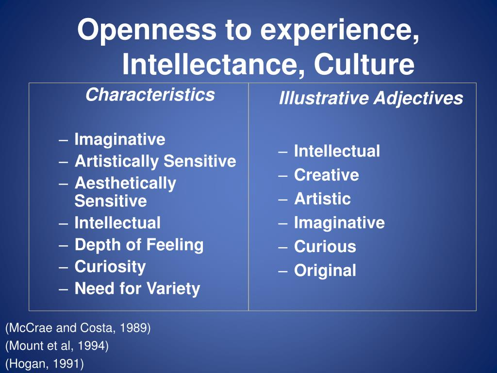 Openness to experience,