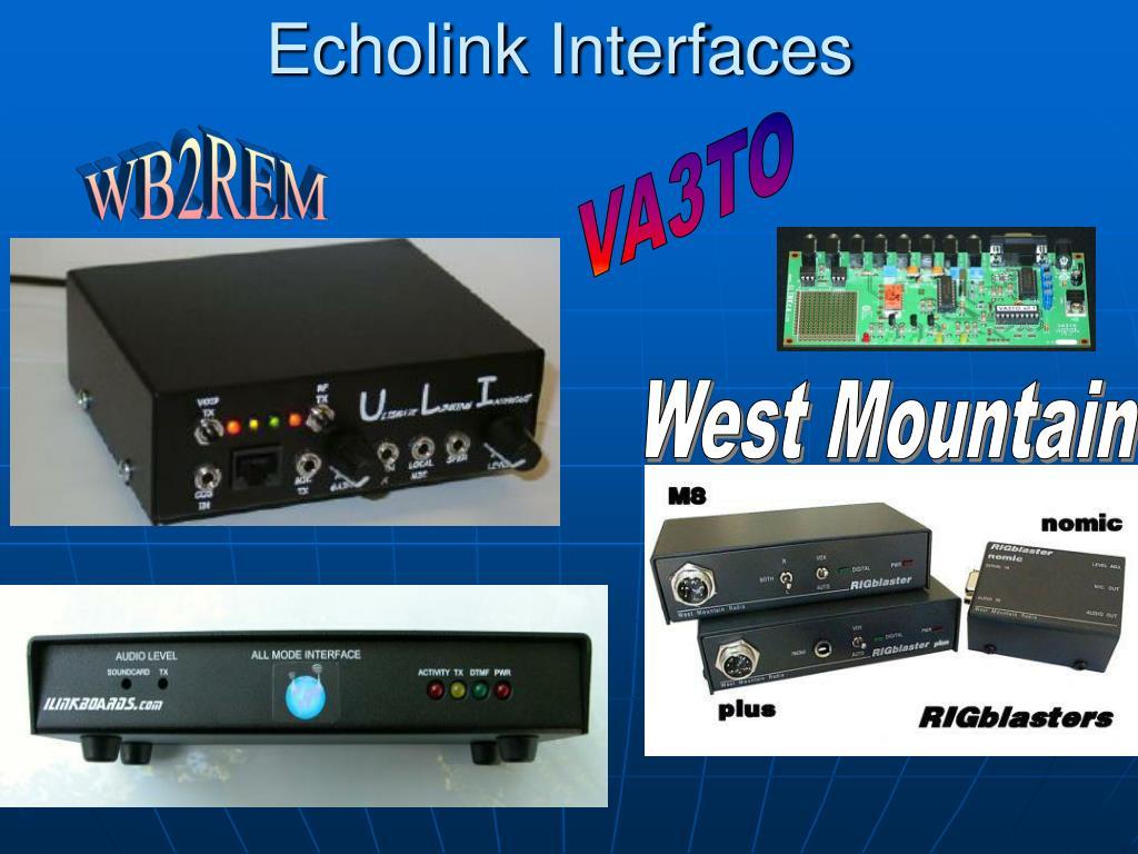 Echolink Interfaces