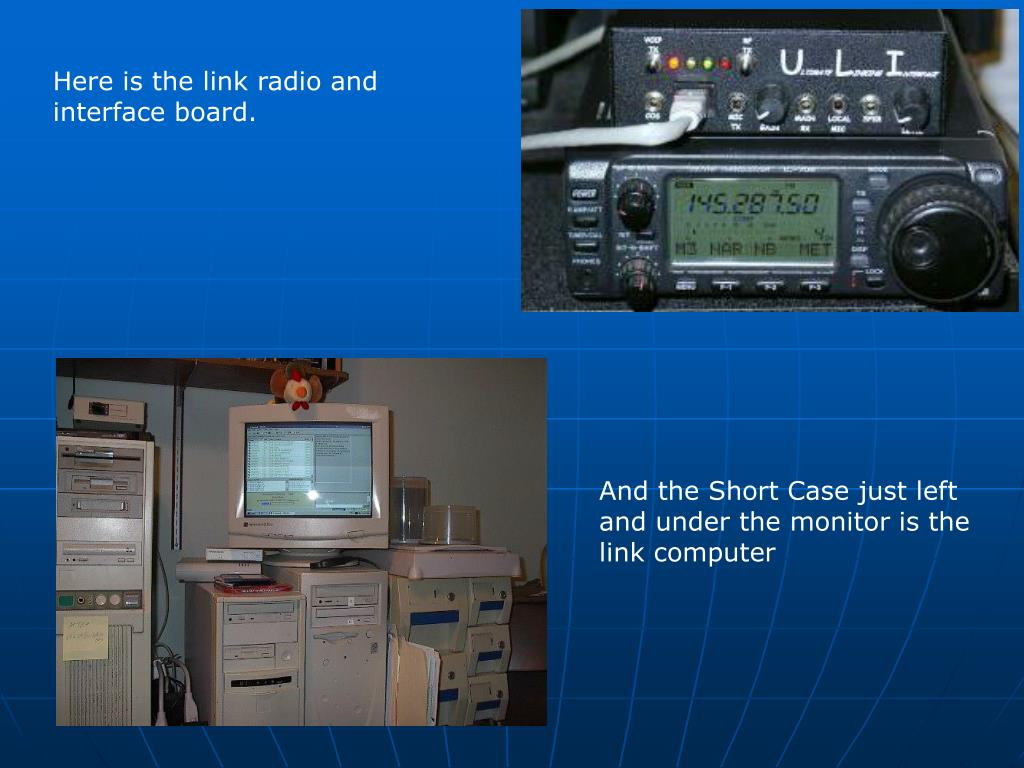 Here is the link radio and interface board.