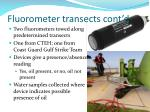fluorometer transects cont d