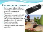 fluorometer transects