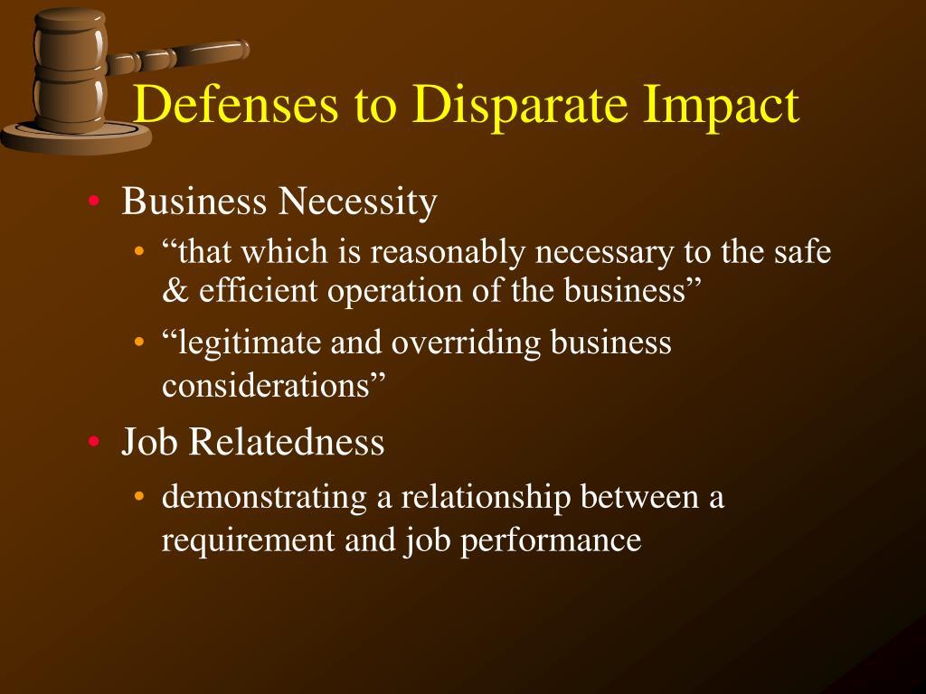 Defenses to Disparate Impact