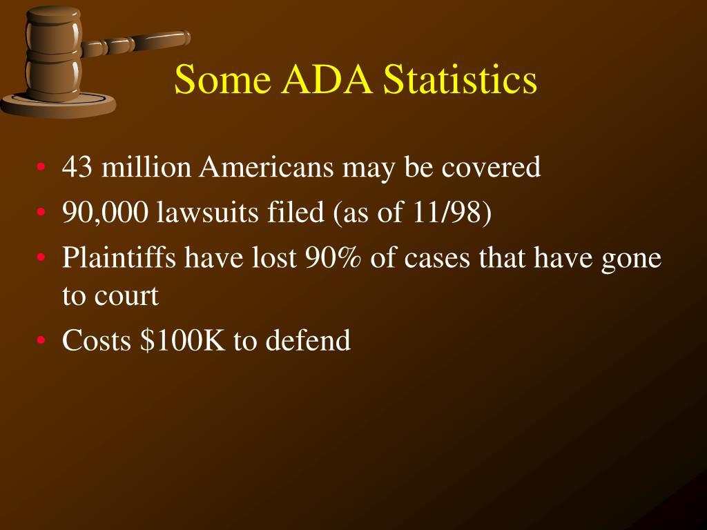Some ADA Statistics