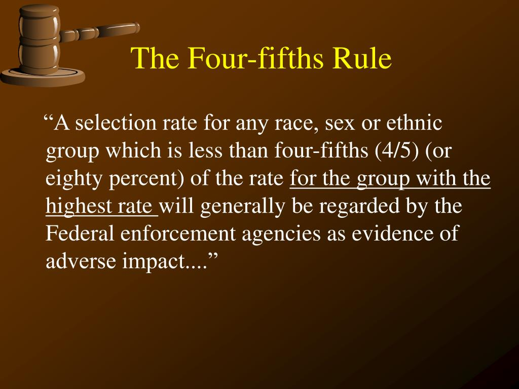 The Four-fifths Rule