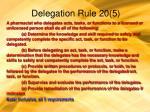 delegation rule 20 5111