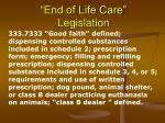 end of life care legislation
