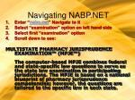 navigating nabp net