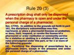 rule 20 3