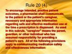 rule 20 4