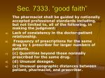 sec 7333 good faith