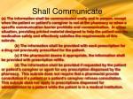 shall communicate