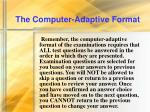 the computer adaptive format15