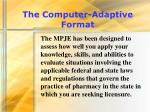 the computer adaptive format17