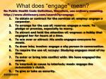what does engage mean