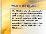 what is the mpje10