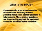 what is the mpje11
