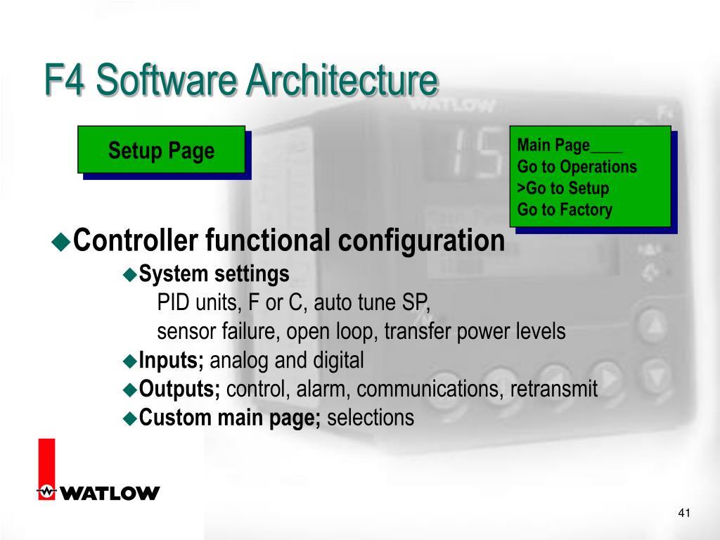 F4 Software Architecture