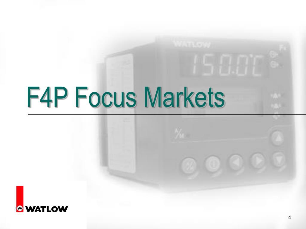 F4P Focus Markets
