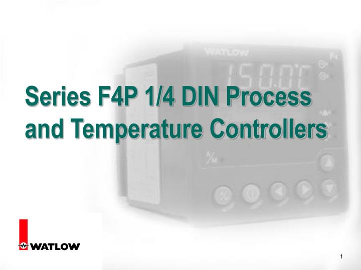 Series f4p 1 4 din process and temperature controllers