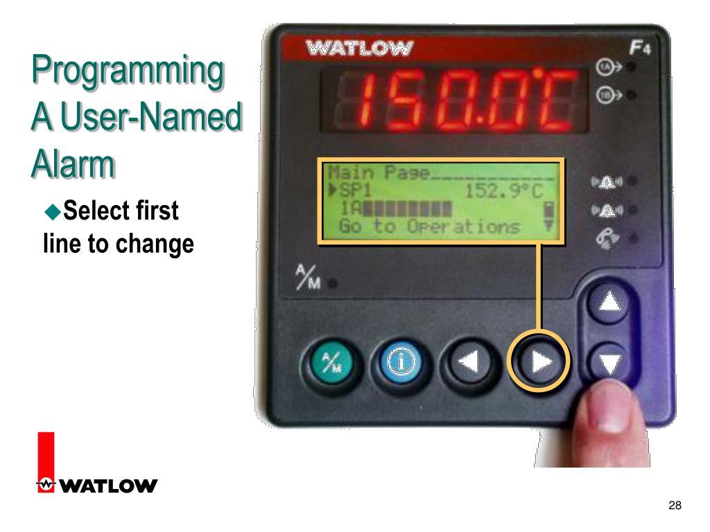 Programming A User-Named Alarm