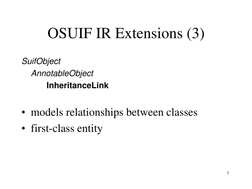 OSUIF IR Extensions (3)