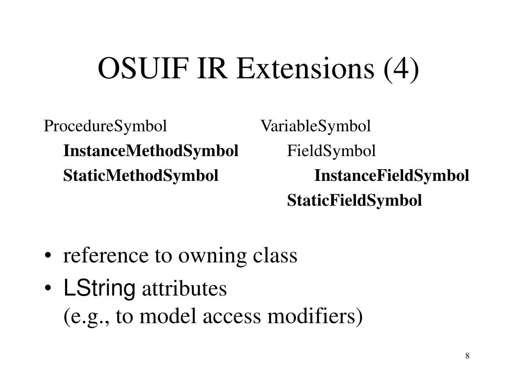 OSUIF IR Extensions (4)