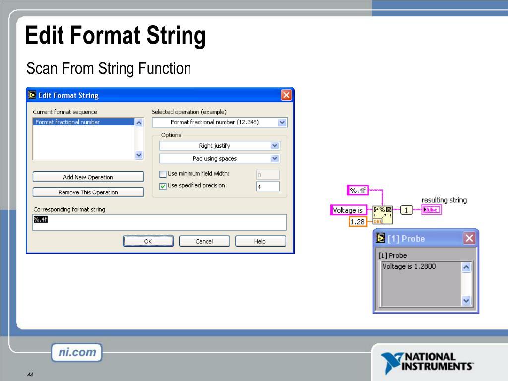 Edit Format String