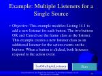 example m ultiple listeners for a single source