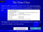 the timer class
