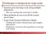 challenges in designing for large scale