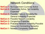 network conditions