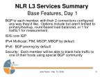 nlr l3 services summary base features day 1