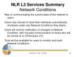 nlr l3 services summary network conditions