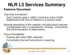 nlr l3 services summary