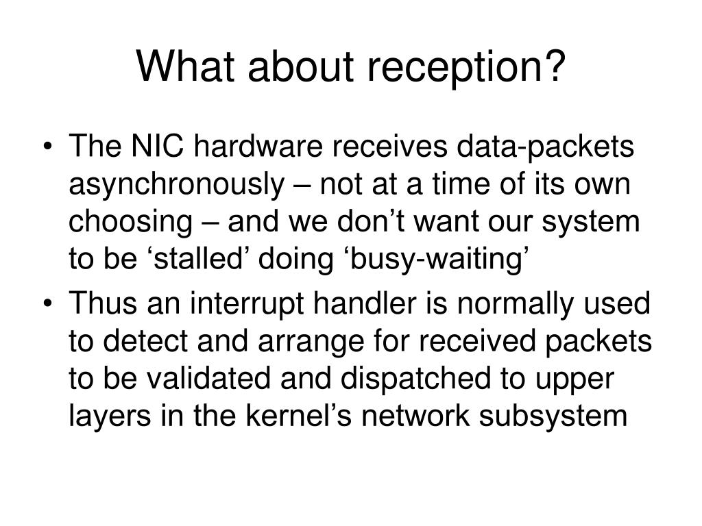 What about reception?
