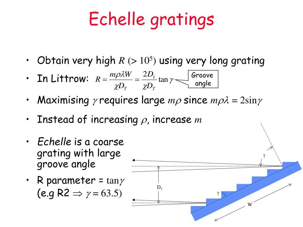 Echelle gratings